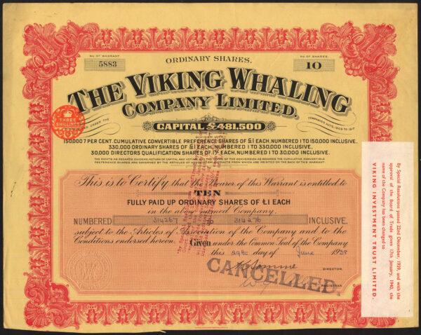 Viking Whaling red