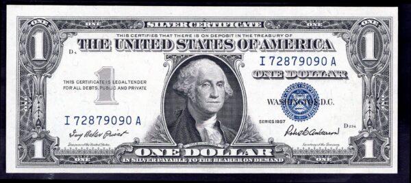 USA: Silver Certificate. 1 dollar. Series 1957. I72879090A. (Pick ...