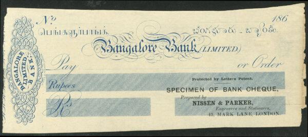 specimen copy of cheque