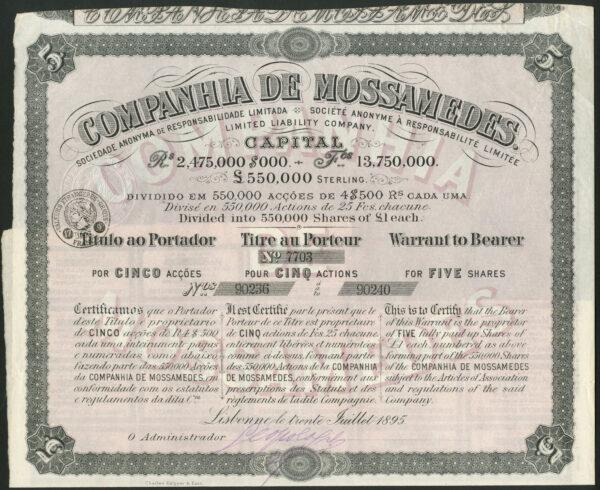 Companhia de Mossamedes 1895
