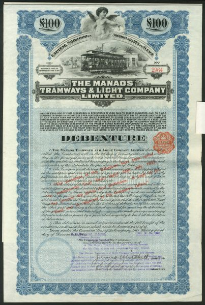 Manaos Tramways 100deb