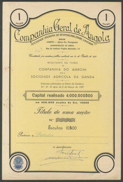 Companhia Geral de Angola 1sh