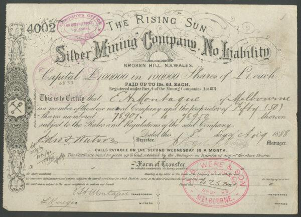 Rising Sun Silver 4002