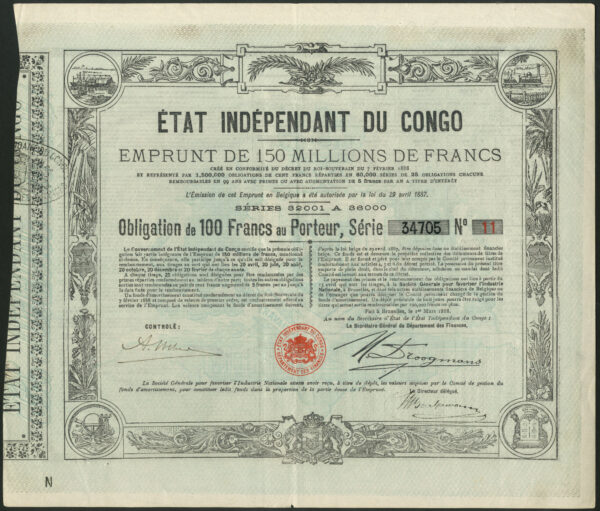Etat Independant du Congo 1888 loan