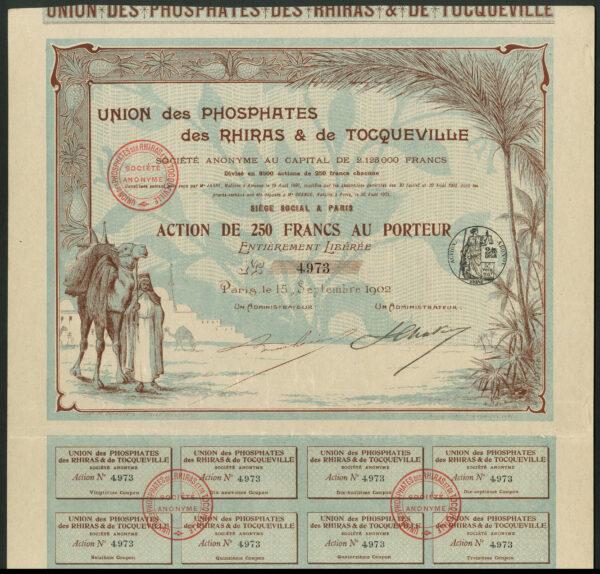 Union des Phosphates des Rhiras Tocqueville