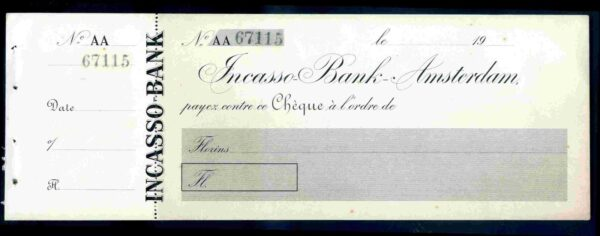 Incasso-Bank-Amsterdam-19-with-counterfoil-unused-172293246740