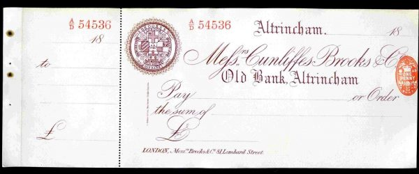 Messrs-Cunliffes-Brooks-Co-Altrincham-1899-Unused-with-counterfoil-381743772390