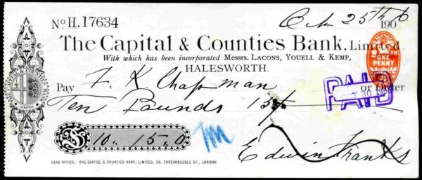 Capital-Counties-Bank-Limited-Halesworth-1906-381838065761