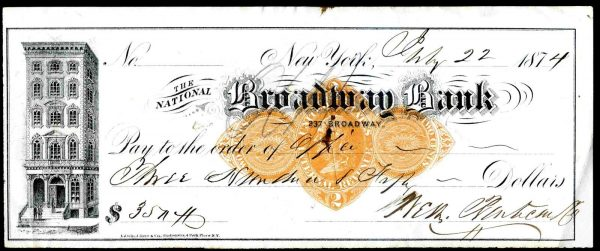The-National-Broadway-Bank-New-York-1874-Scott-Type-D-381713468601