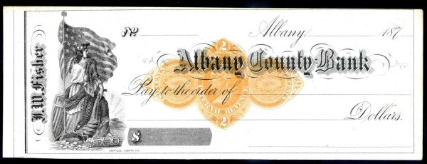 Albany-County-Bank-Albany-187-Unissued-For-JWFisher-Scott-Type-D-381712543266