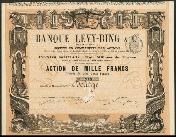 Banque-Levy-Bing-Cie-Paris-et-Nancy-1000-franc-share-1870-172221380986