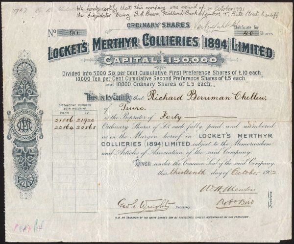 Lockets-Merthyr-Collieries-1894-Ltd-5-ordinary-shares-1902-172483901876