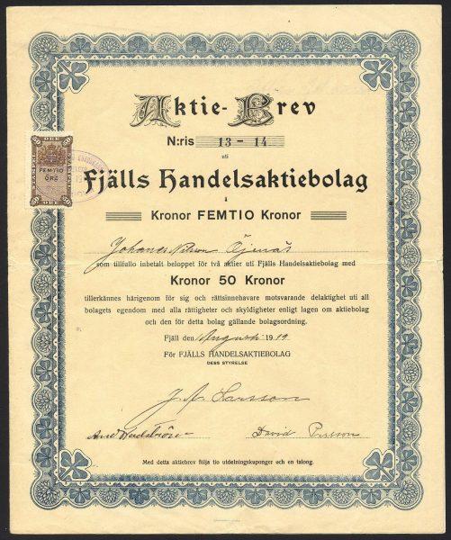 Sweden-Fjalls-Handelsaktiebolag-50-kroner-share-1919-381458868147