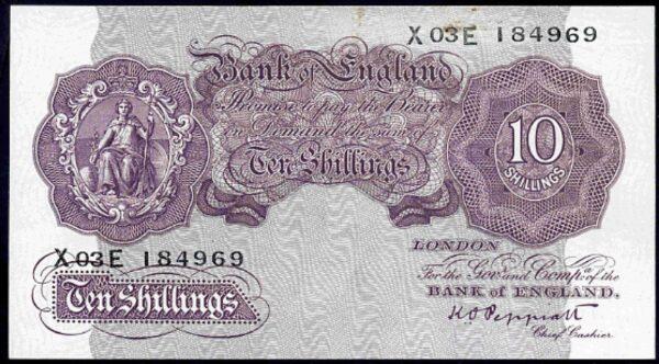 Peppiatt-Ten-Shillings-X03E-184969-1940-pressed-approx-Very-Fine-382030911228