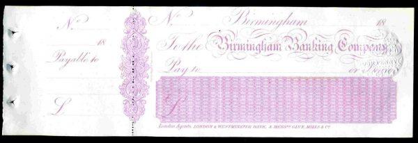 Birmingham-Banking-Company-Birmingham-1864-unused-with-cfoil-172315924389