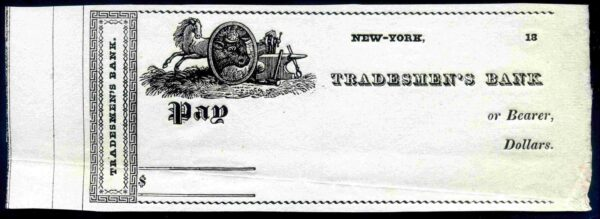 Tradesmens-Bank-New-York-18-C1850s-Unused-381721508849